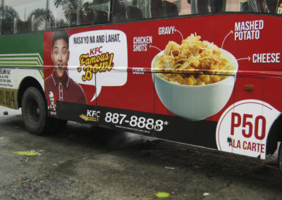 KFC Axle to Axle Bus Ad